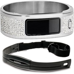 Vivofit Fitness Band with Heart Rate Monitor (Black) Glam Bangle Bundle