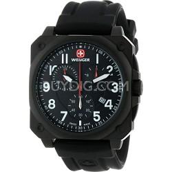 Men's AeroGraph Cockpit Watch - PVD Black Case/Black Dial/Black Rubber Strap