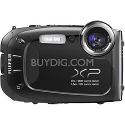FinePix XP60 16 MP Waterproof Shockproof Freezeproof Digital Camera - Black