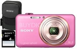 "DSC-WX70/P - 16.2MP Exmor R CMOS Full HD Digital Camera 3.0"" LCD 5x Zoom (Pink)"