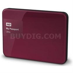 My Passport Ultra 3 TB Portable External Hard Drive, Berry - OPEN BOX