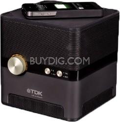 Life On Record Bluetooth Wireless Charging Speaker (Black)
