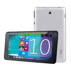 "Windows 10 Quad-Core 7"" Bluetooth Tablet - SC-7021W"