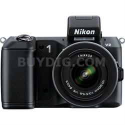 1 V2 14.2 MP Digital Camera w/ 10-100mm VR 1 NIKKOR Lens (Black) - Refurbished