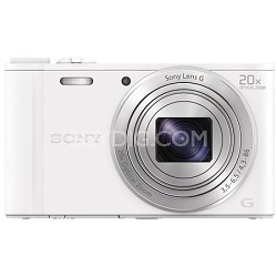 Cyber-shot DSC-WX350 Digital Camera (White) - OPEN BOX
