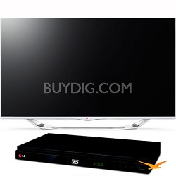 "55"" Class 1080p 240Hz Cinema 3D Smart TV (55LA7400) with BP530 Blu-ray Player"