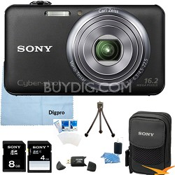 "DSC-WX70/B - 16.2MP Exmor R CMOS Camera 3.0"" LCD 5x Zoom (Black) 8GB Bundle"