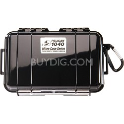 1040 Micro Case with Clear Lid and Carabineer (Black)
