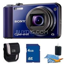 Cyber-shot DSC-H70 Blue Digital Camera 4GB Bundle