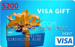 $200 Gift Card (Allow 3-5 weeks for delivery)