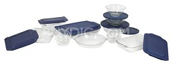 Bakeware 19-Piece Baking Dish Set, Clear