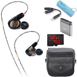 ATH-E70 Professional In-Ear Monitor Headphone A1 Portable Amplifier Bundle