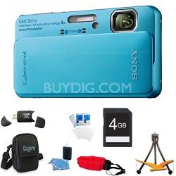 Cyber-shot DSC-TX10 Blue Digital Camera 4GB Bundle