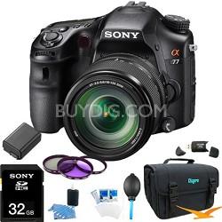 SLTA77VM - a77 Digital SLR 24.3 MP with 18-135mm Zoom Lens Ultimate Bundle