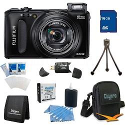 FinePix F660EXR 16MP EXR CMOS Digital Camera 16 GB Bundle (Black)