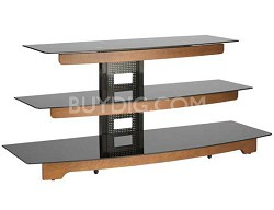 "BFAV550 - Waterfall design 3-Shelf A/V Stand for TVs up to 56"" (Chestnut)"
