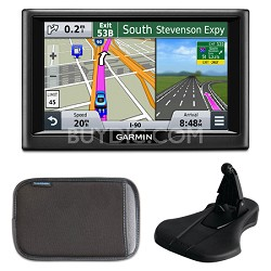 "nuvi 57 5.0""-inch Essential Series 2015 GPS System Mount & Case Bundle"