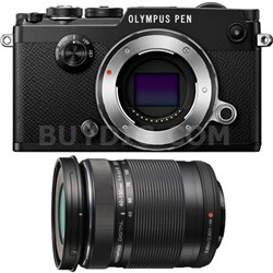 PEN-F 20MP Mirrorless Micro Four Thirds Digital Camera w/ 40-150mm Lens Bundle