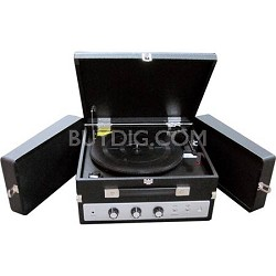 Home Classical Vinyl Turntable Player w/ PC Record, iPod Player