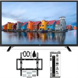 32LH550B 32-Inch 720p HD LED TV w/ Flat + Tilt Wall Mount Bundle