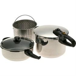 Duo 2-in-1 Combi Pressure Cooker Deluxe 5 Piece Set - OPEN BOX