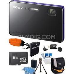 """DSC-TX200V/V - 18.2 MP Camera Waterproof 3.3"""" OLED (Violet) Ultimate Bundle"""