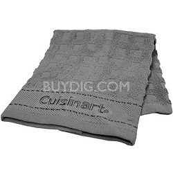 2 Pack Terry Dish Cloth with Embroidery - Steel