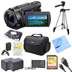 "FDR-AX33/B - 4K Camcorder with 1/2.3"" Sensor (Black) Deluxe Bundle"