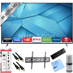 M49-C1 - 49-Inch 4K Ultra HD Smart LED HDTV Tilt Mount & Hook-Up Bundle