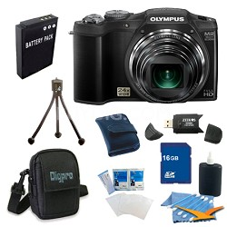 16 GB Kit SZ-31MR iHS 16MP 24X Opt Zoom 3 in LCD Camera - Black