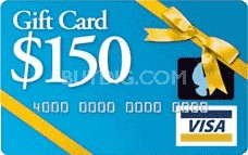 $150 Gift Card (Allow 6-8 weeks for delivery)