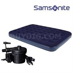 Full Size Indoor/Outdoor Air Mattress w/ Air Pump/Car Adapter - OPEN BOX