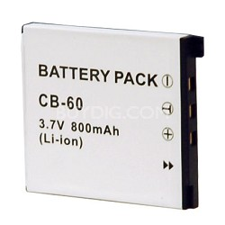 CB-60 800mAh Replacement Battery for Casio Exilim Cameras