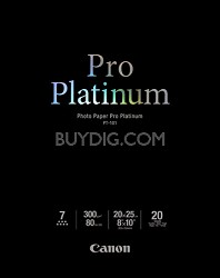 """Photo Paper Pro Platinum 8"""" X 10"""" - 20 Sheets"""