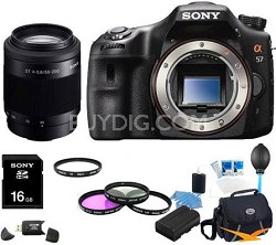 Alpha SLT-A57 Body 16.1 MP Digital SLR with Sony 55-200mm Ultimate Bundle