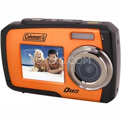 14MP Dual Screen Waterproof Digital Camera (Orange) - 2V7WP-O