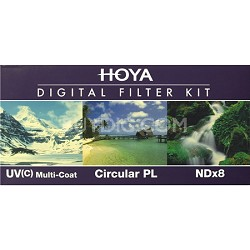 HK-DG77 - 77mm (HMC UV / Circular Polarizer / ND8) 3 Digital Filter Set w/ Pouch