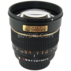 85M-O 85mm F1.4 Aspherical Lens for Olympus (Black)