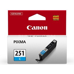 CLI-251 Cyan Ink Tank for PIXMA iP7220, MG5420, MG6320 Printers