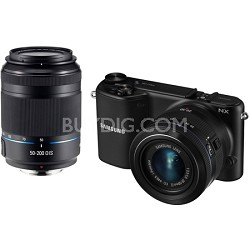 NX2000 20.3MP Black Smart Digital Camera with 20-50mm And 50-200 - OPEN BOX