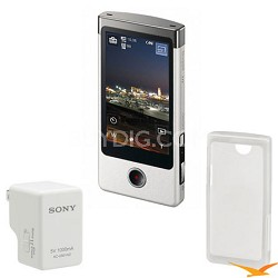 MHS-TS10/S Bloggie Touch 4GB Silver Camcorder + Sony Case and Sony USB Charger