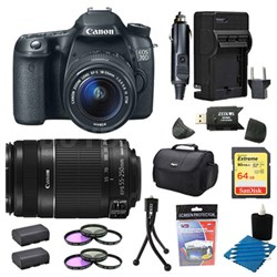 EOS 70D 20.2 MP CMOS Digital SLR Camera With EF-S 18-55mm + 55-250mmSTM 64gb Kit