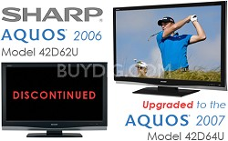 "LC-42D62U - AQUOS 42"" High-definition 1080p LCD TV (upgraded to the LC-42D64U)"