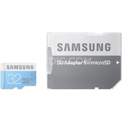 32GB Micro SDHC with Adapter Up to 24MB/s Class 6 Memory Card