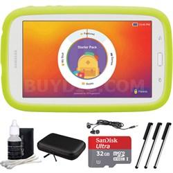 """Kids Tab E Lite 7.0"""" 8GB (Wi-Fi) White w/ Bumper Case 32GB microSDHC Card Bundle"""