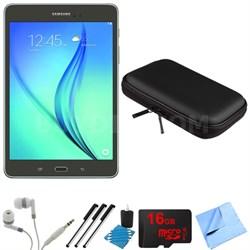 Galaxy Tab A 8-Inch Tablet (16 GB, Smoky Titanium) 16GB Memory Card Bundle
