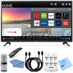 60LF6100 - 60-inch 120Hz Full HD 1080p Smart LED HDTV Hook-Up Bundle
