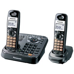 KX-TG9342T DECT 6.0 Expandable Digital Cordless Phone with 2 Handsets