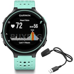 Forerunner 235 GPS Sport Watch - Frost Blue - Charging Clip Bundle