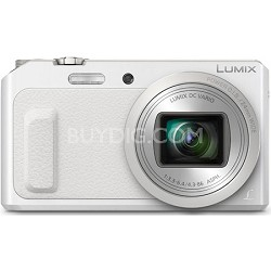 LUMIX DMC-ZS45 20X Zoom White Digital Camera with Wink-Activated Selfie
